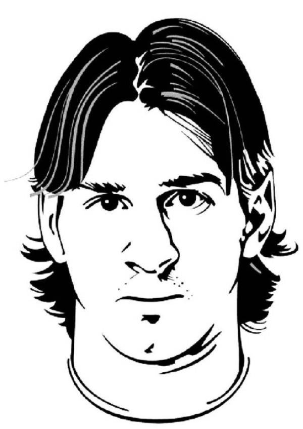 Coloriage Messi