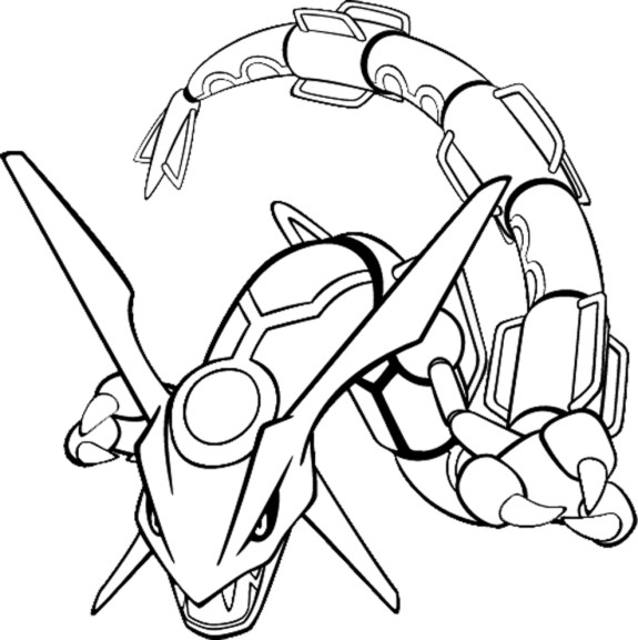 Coloriage rayquaza pokemon imprimer - Coloriage carte pokemon ...