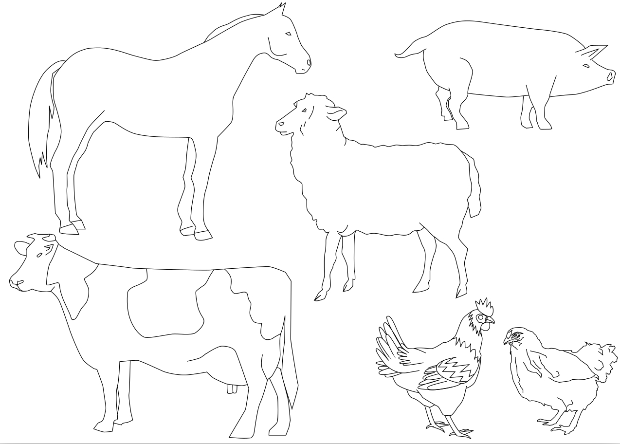 Coloriage animaux ferme