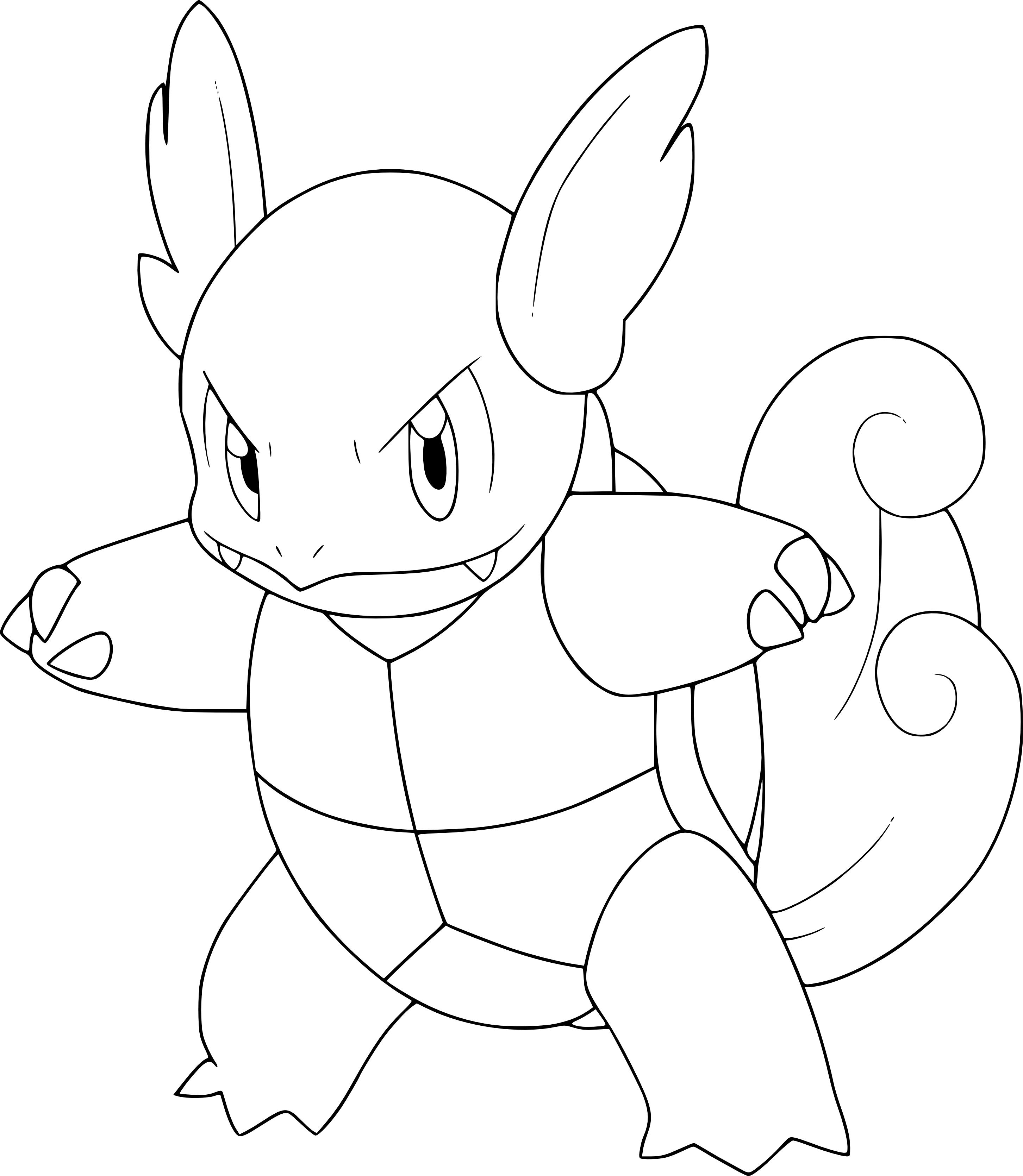 Coloriage carabaffe pokemon imprimer - Dessin imprimer ...