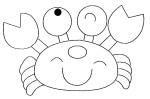 Coloriage crabe mignon