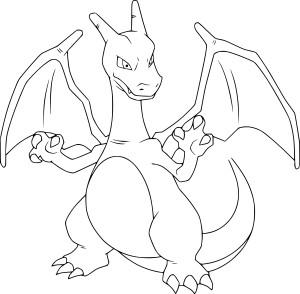 Coloriage Dracaufeu Pokemon