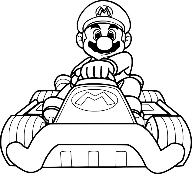Coloriage Mario Kart