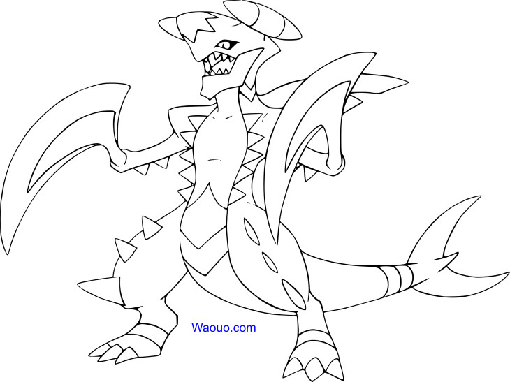 Coloriage Mega-Carchacrok Pokemon