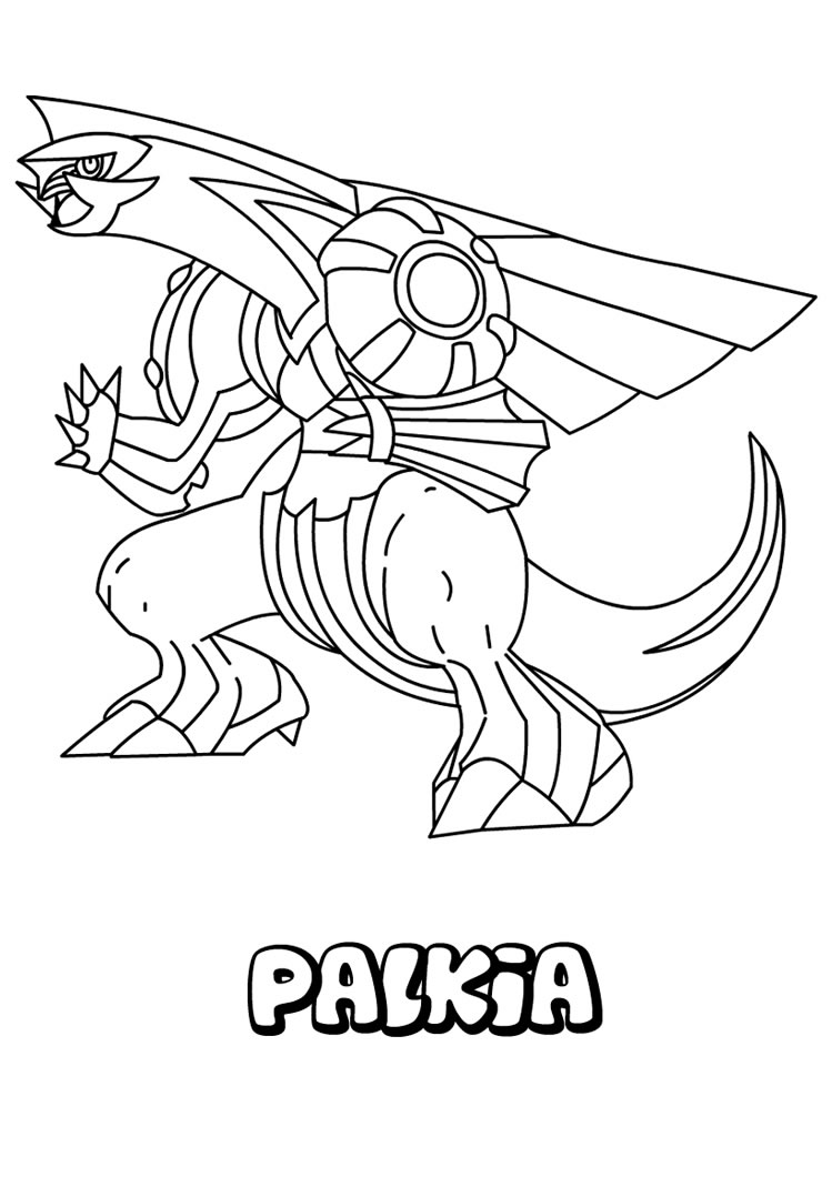 Coloriage Palkia Pokemon