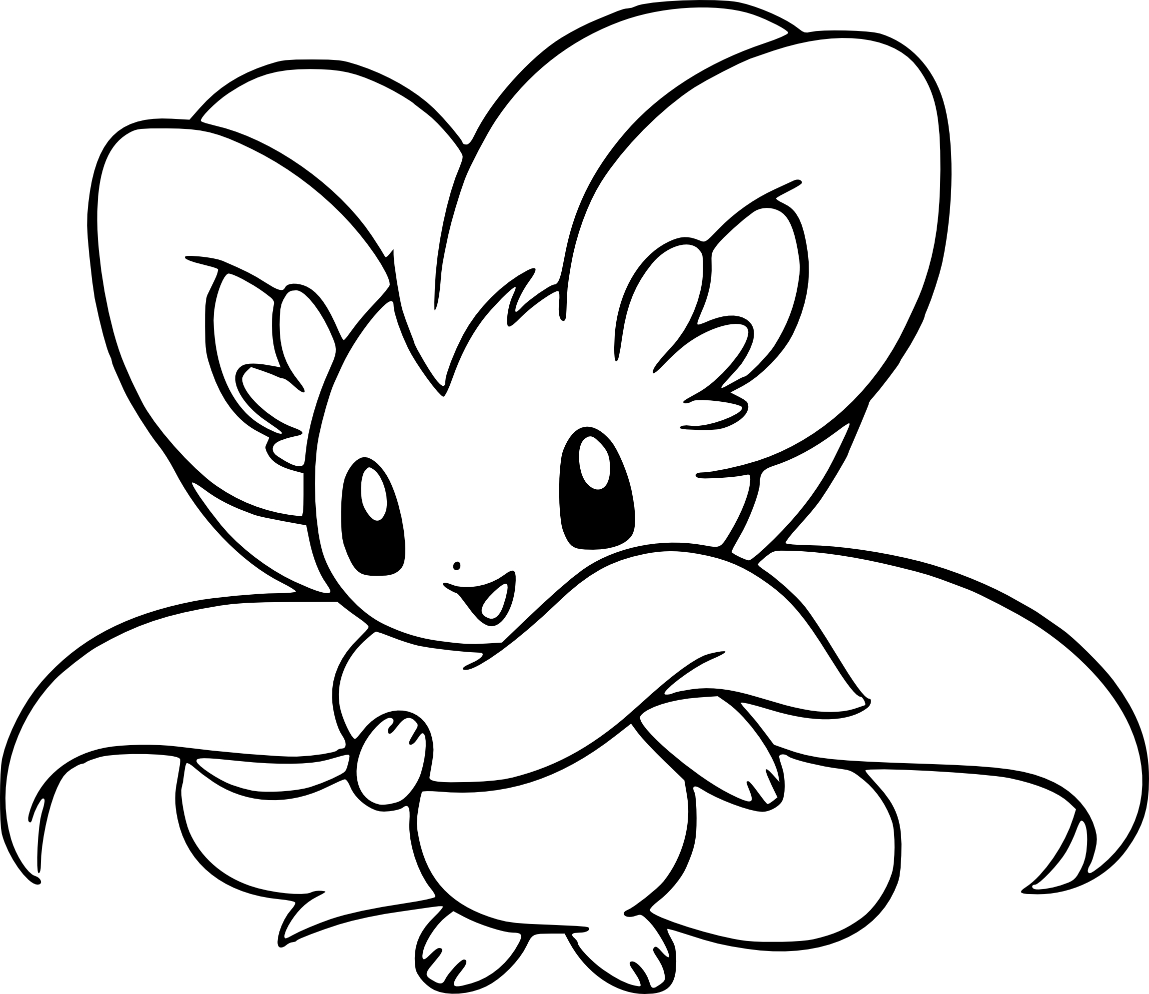 Coloriage Pashmilla Pokemon