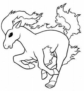 Coloriage Ponyta