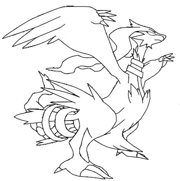 Coloriage Reshiram Pokemon à imprimer