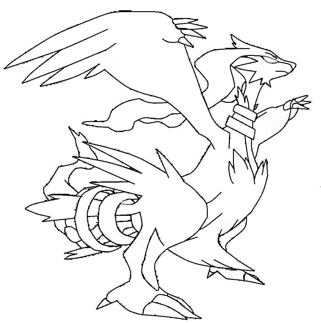 coloring pages pokemon zekrom x - photo#16