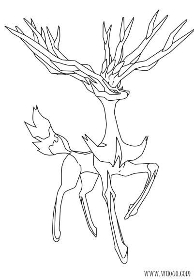 Coloriage xerneas pokemon imprimer - Pokemon a imprimer mega evolution ...