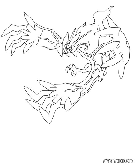 Coloriage Yveltal