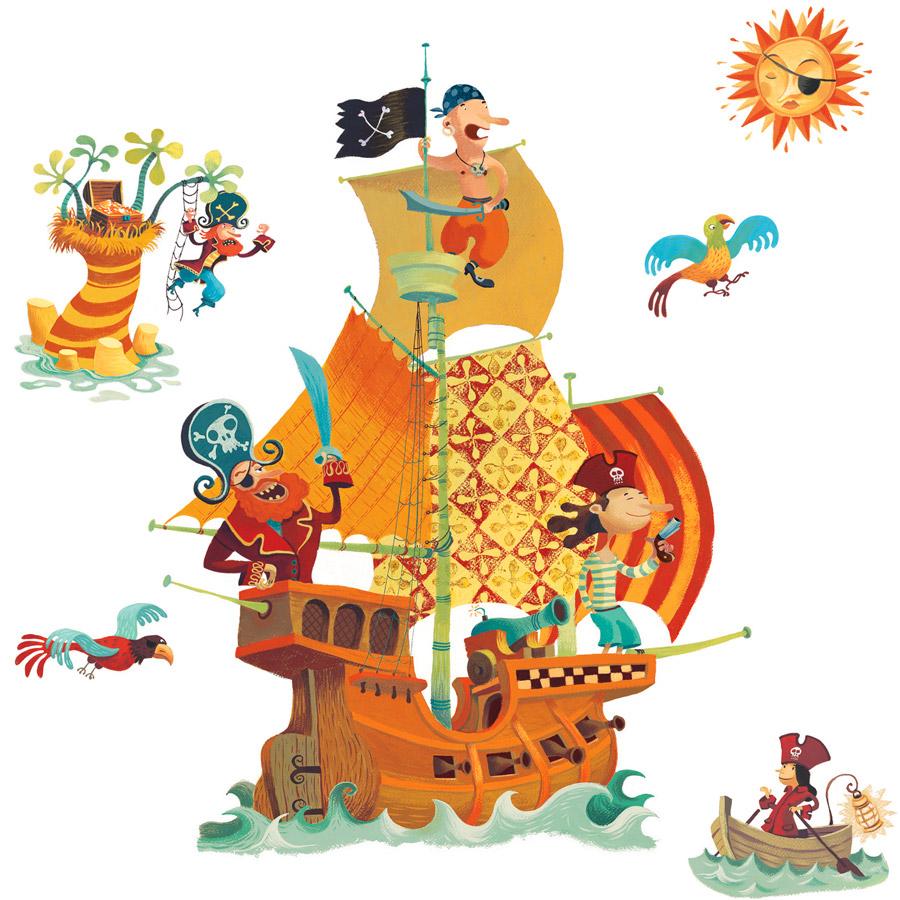 Coloriage Bateau Pirate Couleur.Coloriage Bateau De Pirate A Imprimer