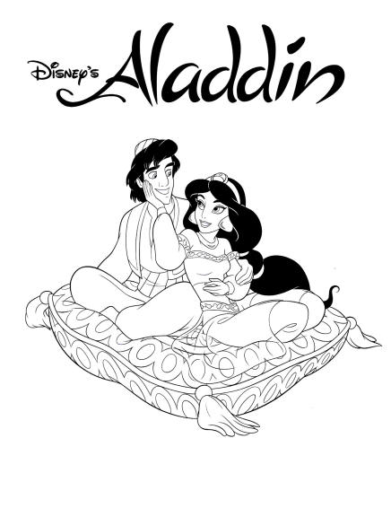 Coloriage Aladdin Disney