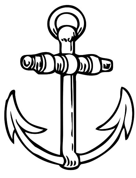 Coloriage ancre de bateau imprimer - Dessiner une ancre marine ...