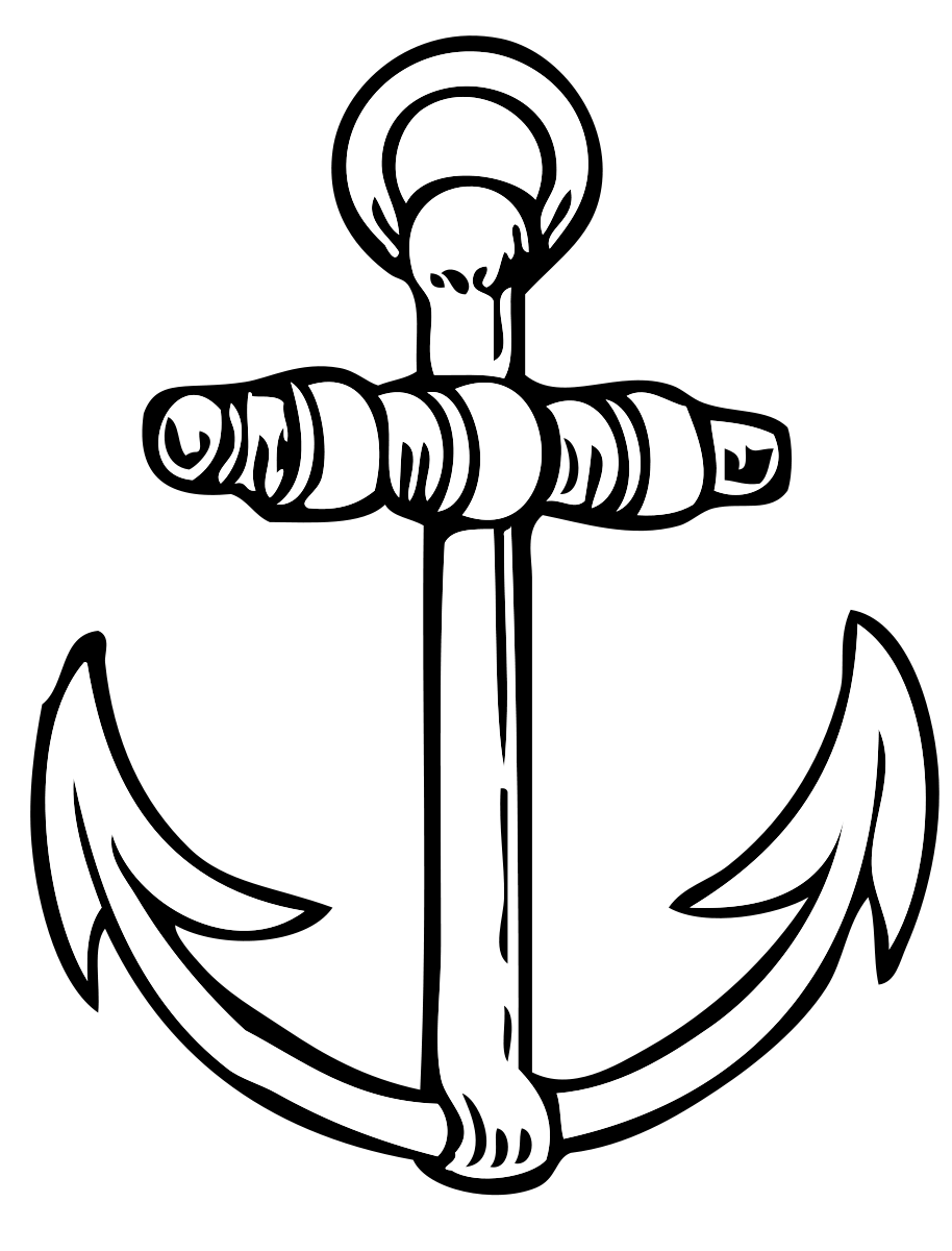 Coloriage ancre de bateau imprimer - Ancre de bateau dessin ...