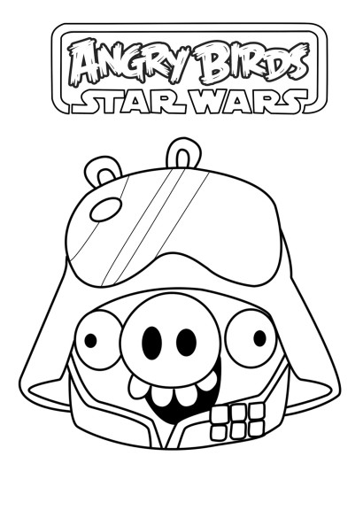 Coloriage Angry Birds Star Wars