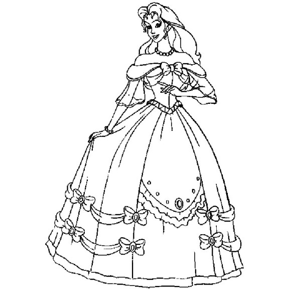 Coloriage barbie princesse imprimer - Barbie princesse coloriage ...