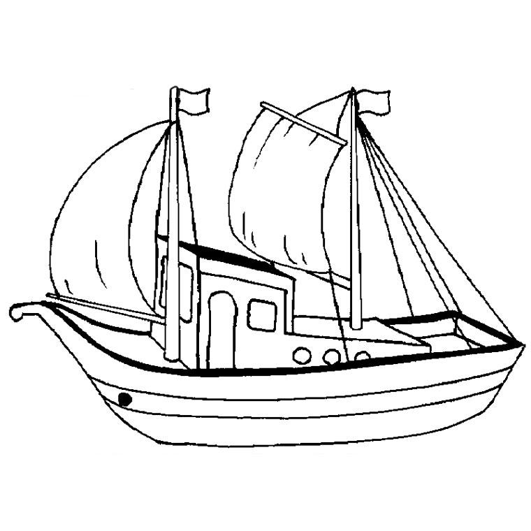 Coloriage bateau a voile imprimer - Dessin d un bateau ...