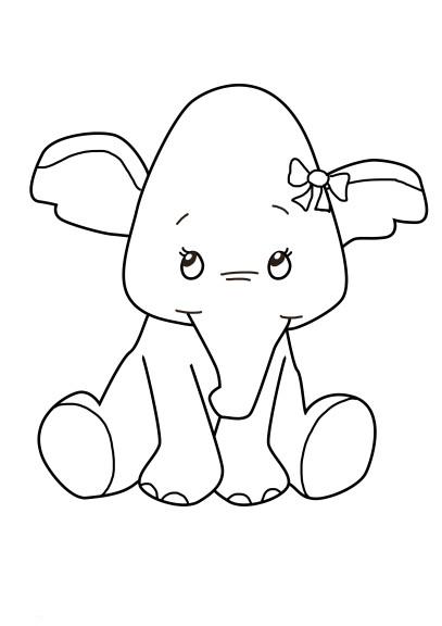 Coloriage Bebe Elephant