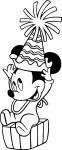 Coloriage Bebe Mickey anniversaire