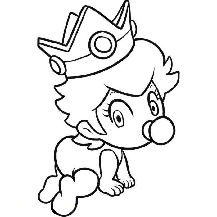 Coloriage bebe peach