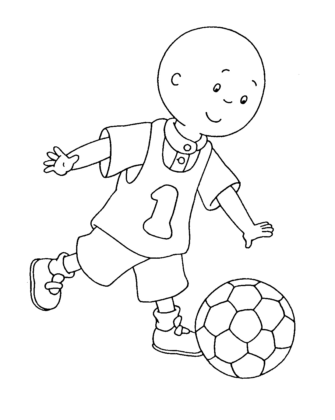 Coloriage caillou foot