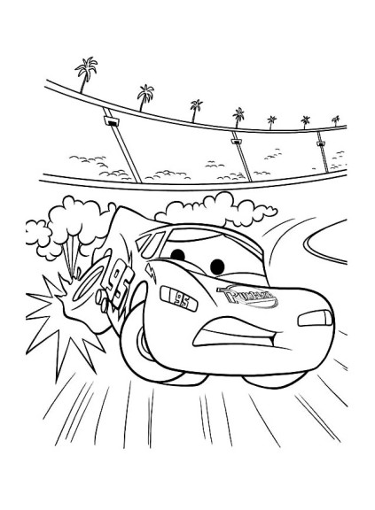 Coloriage Cars accident