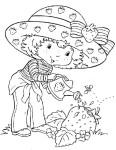 Coloriage Charlotte aux fraises