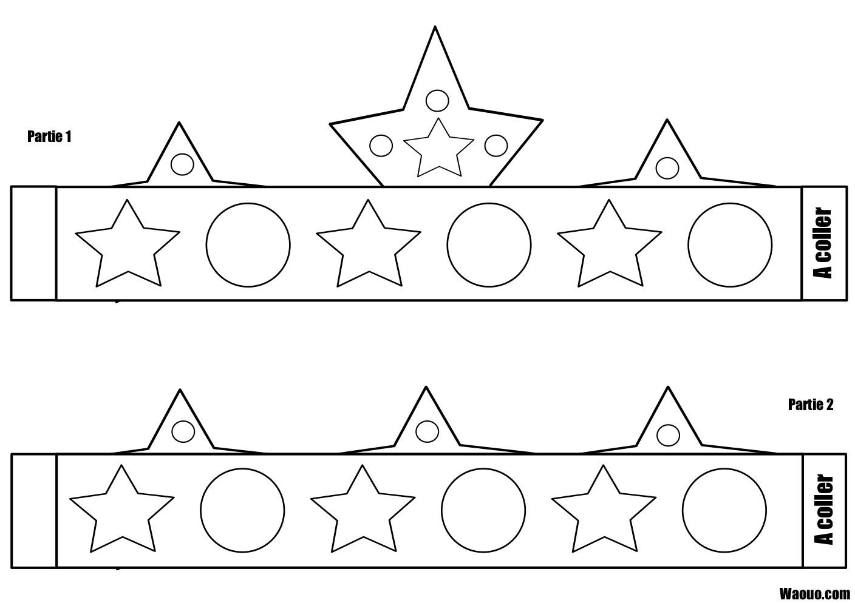 Coloriage couronne etoile