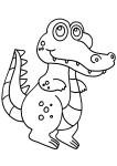 Coloriage crocodile marrant