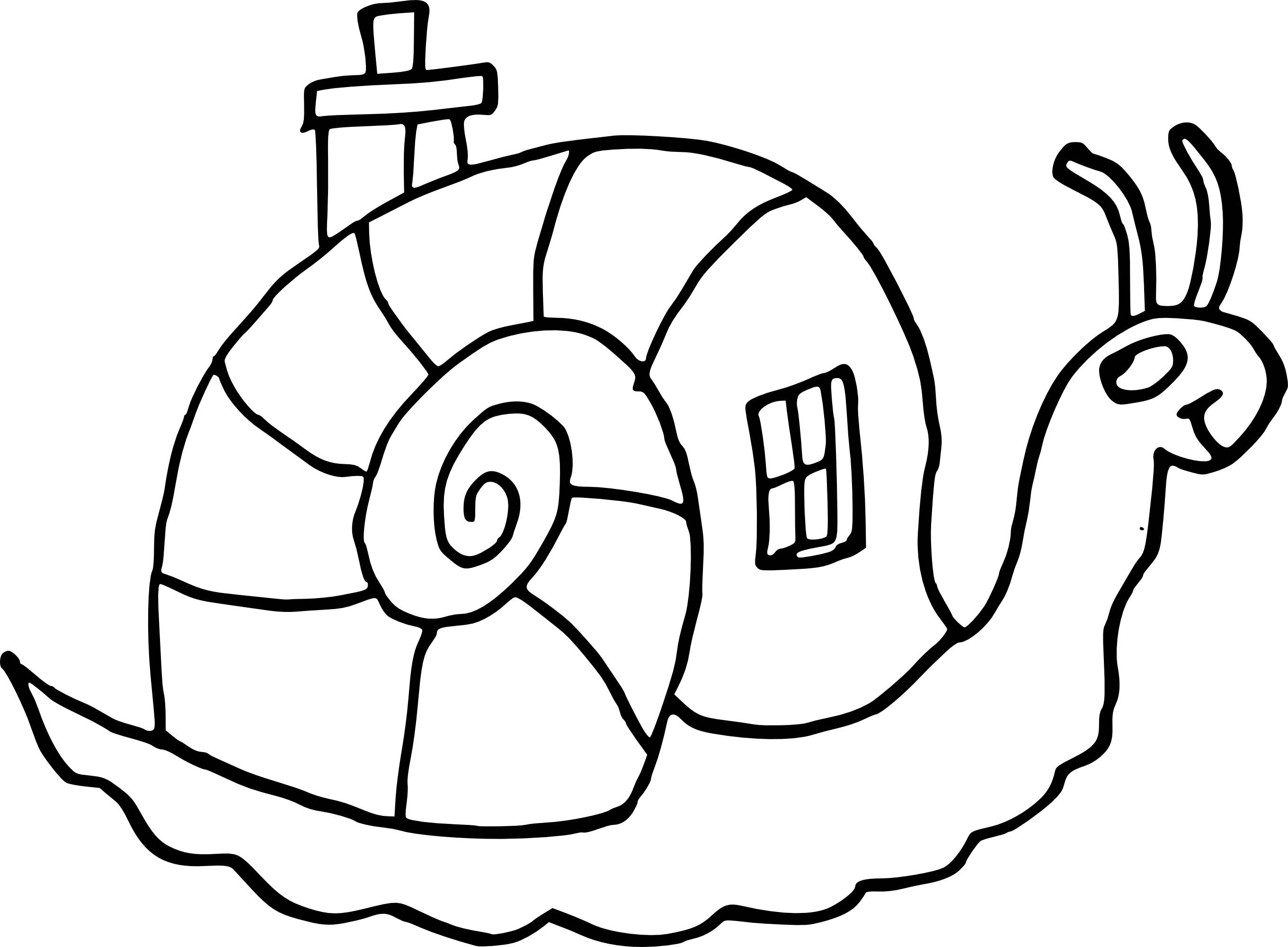 Coloriage Escargot Maison à Imprimer