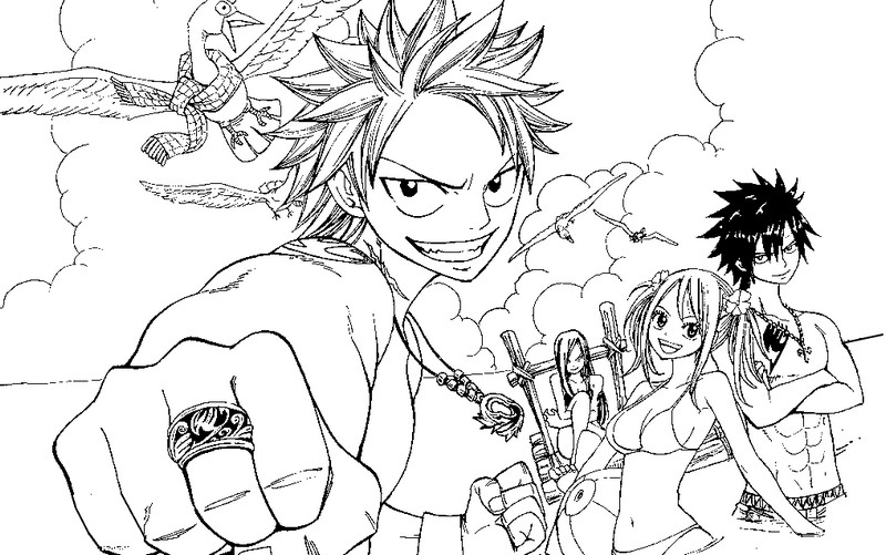 Coloriage Fairy Tail