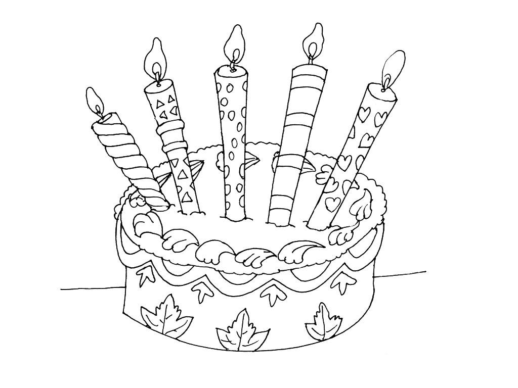 Coloriage gateau d'anniversaire