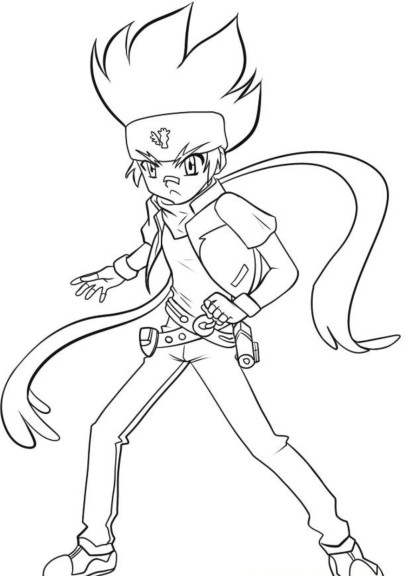 Coloriage Gingka Beyblade