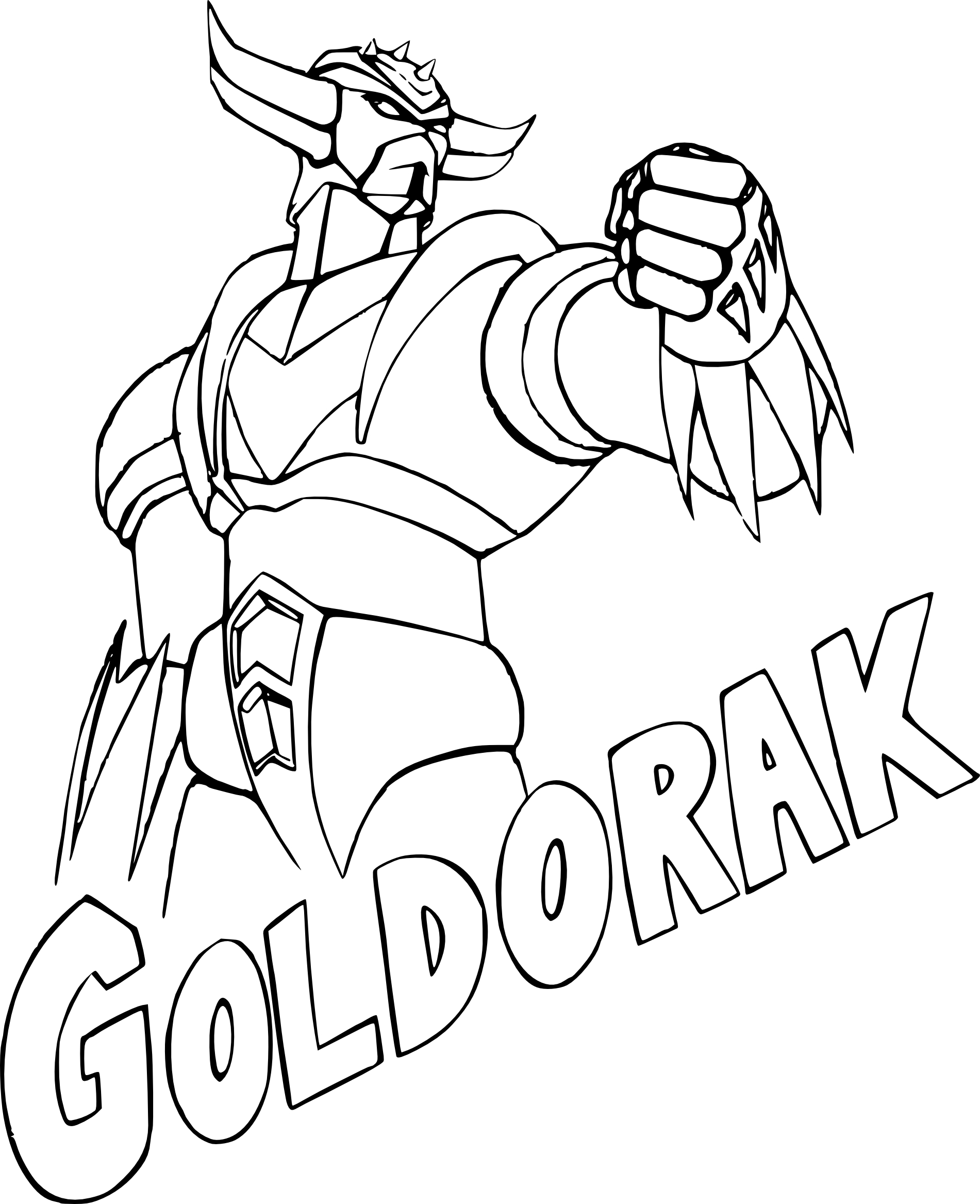 Coloriage Goldorak