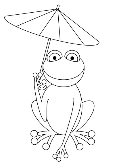 Coloriage grenouille marrante