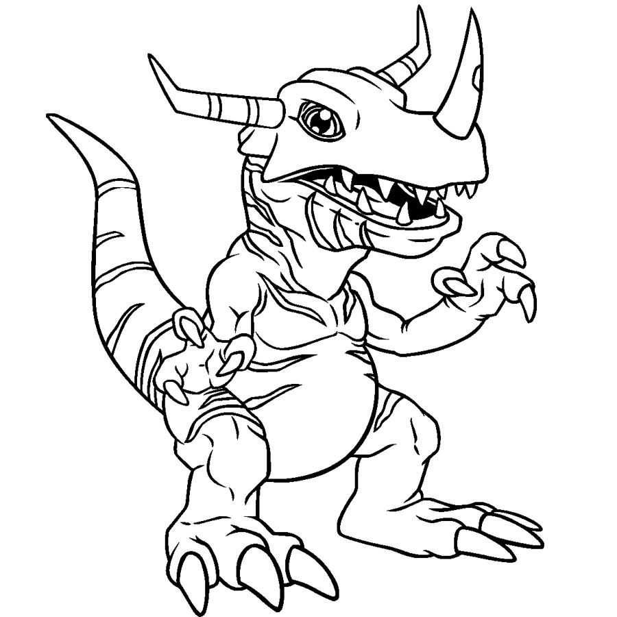 Coloriage Greymon Digimon