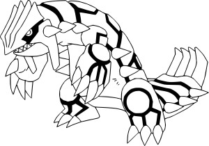 Coloriage Groudon