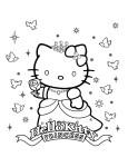 Coloriage Hello Kitty princesse