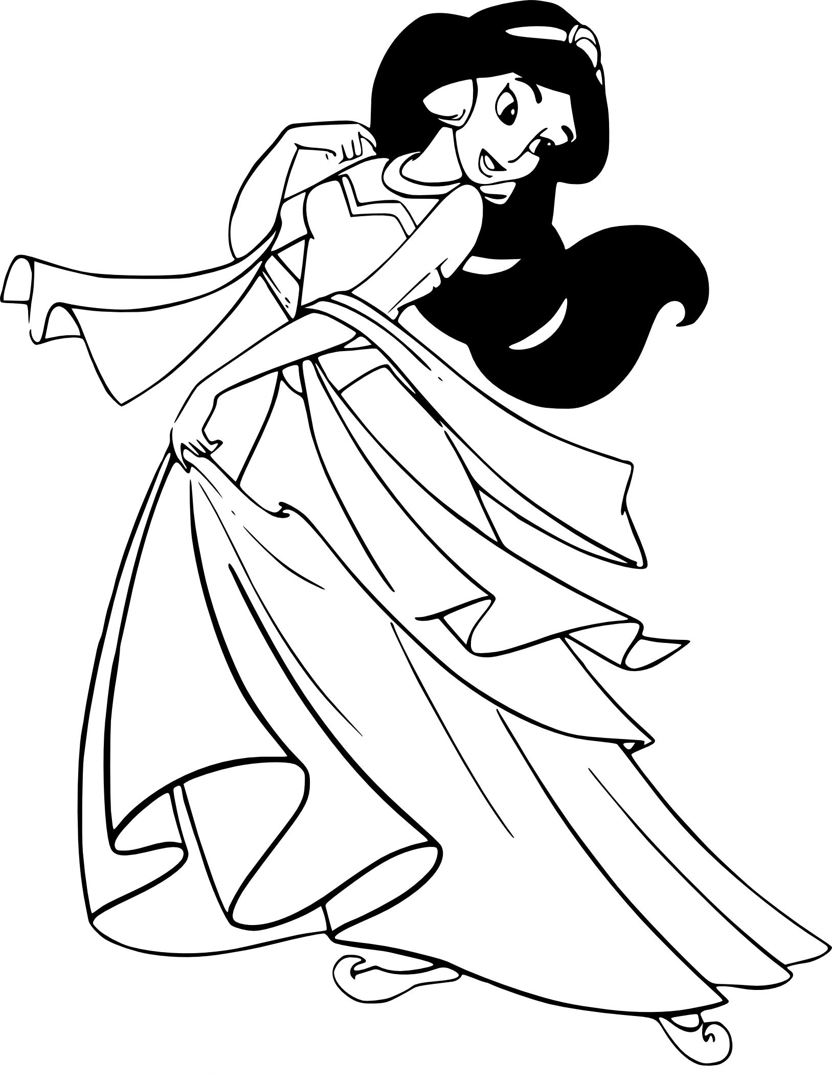 Coloriage Jasmine princesse