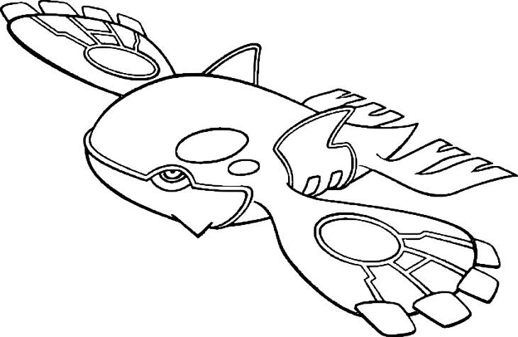 coloriage kyogre pokemon