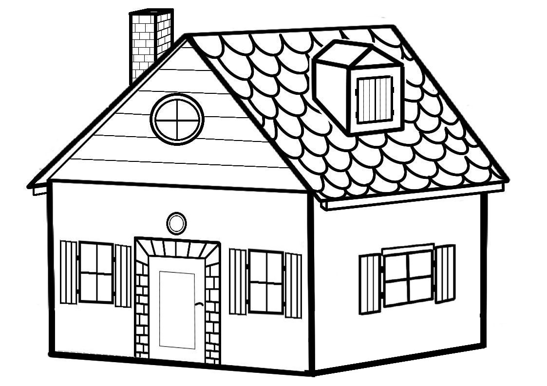 Coloriage maison imprimer for Plans et dessins de construction