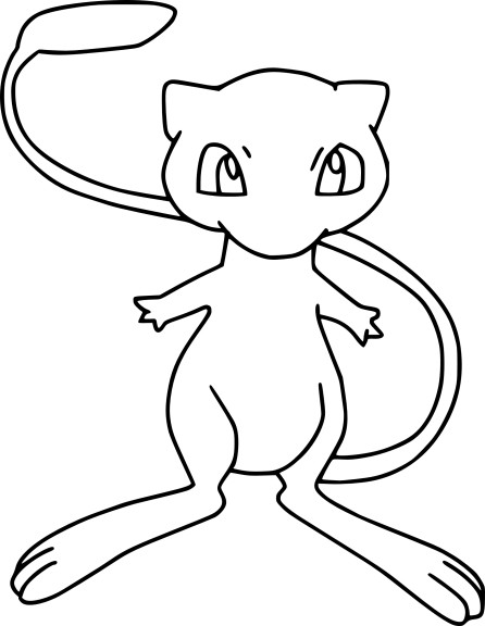 Coloriage mew pokemon imprimer - Dessin de pokemon facile ...
