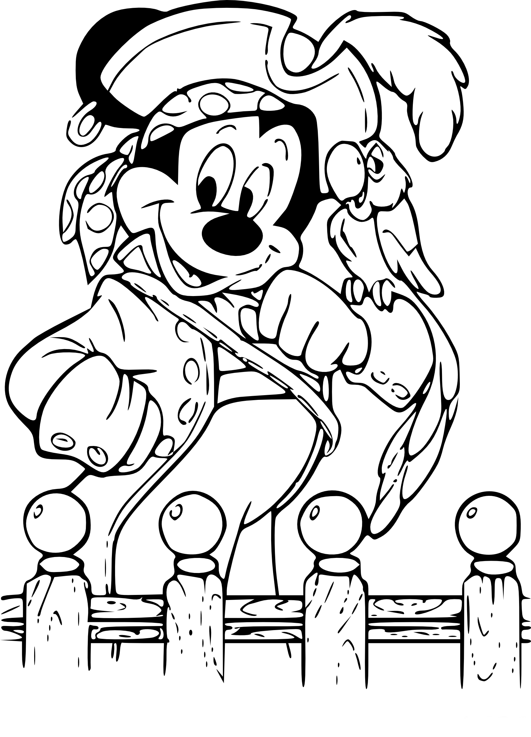 Coloriage mickey pirate imprimer - Imprimer coloriages ...