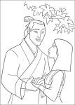 Coloriage Mulan Shang