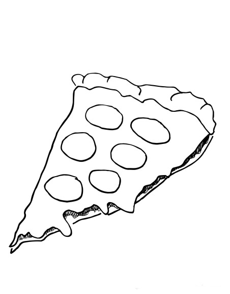Coloriage pizza