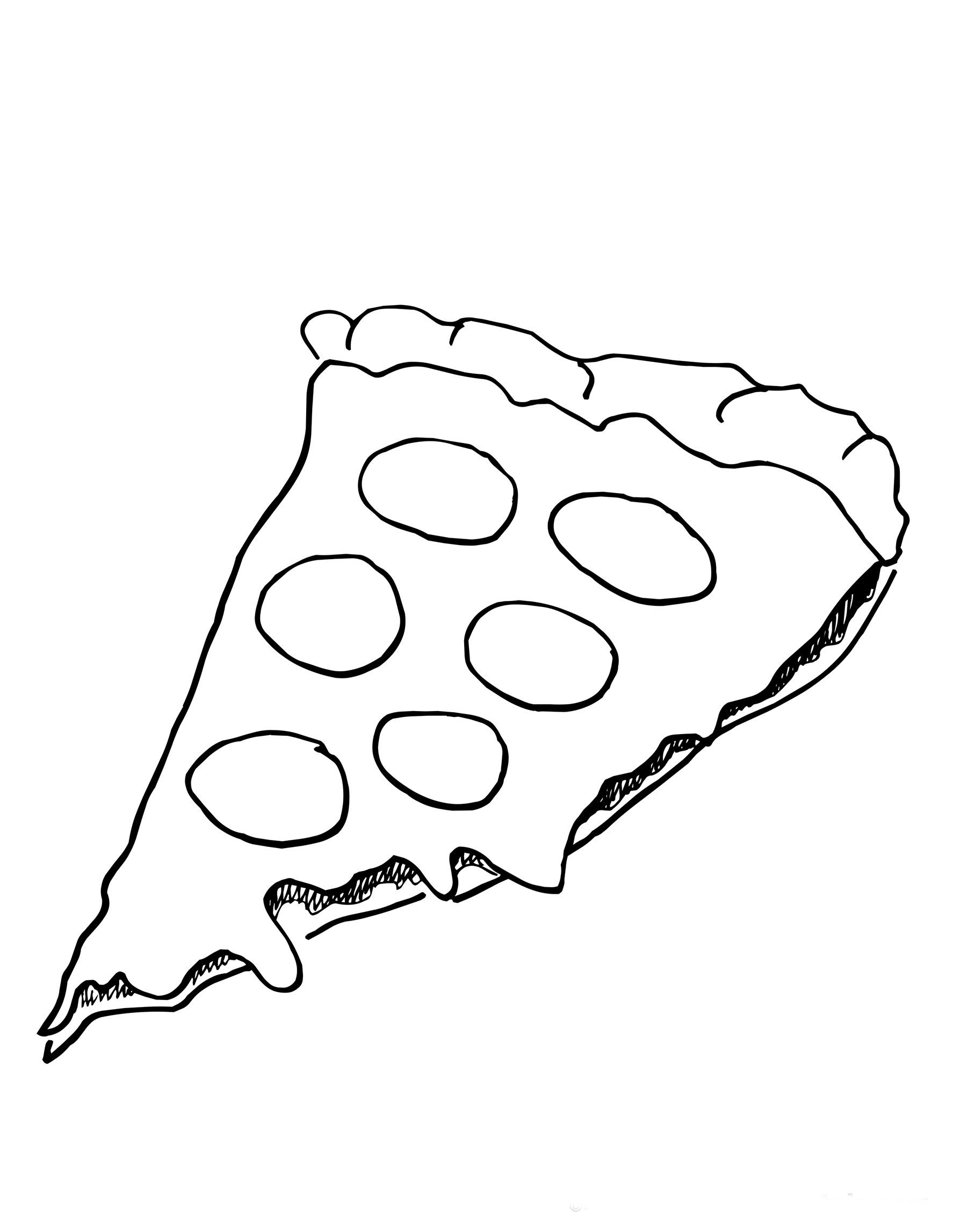 Coloriage pizza