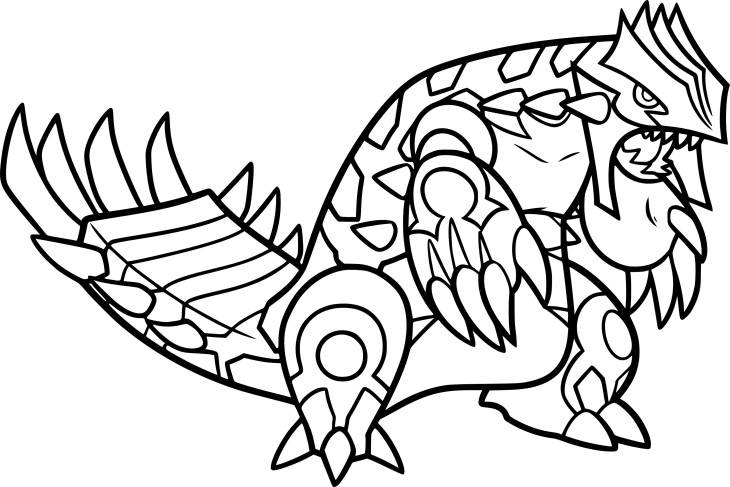Coloriage primo groudon pokemon imprimer - Coloriages pokemon ex ...