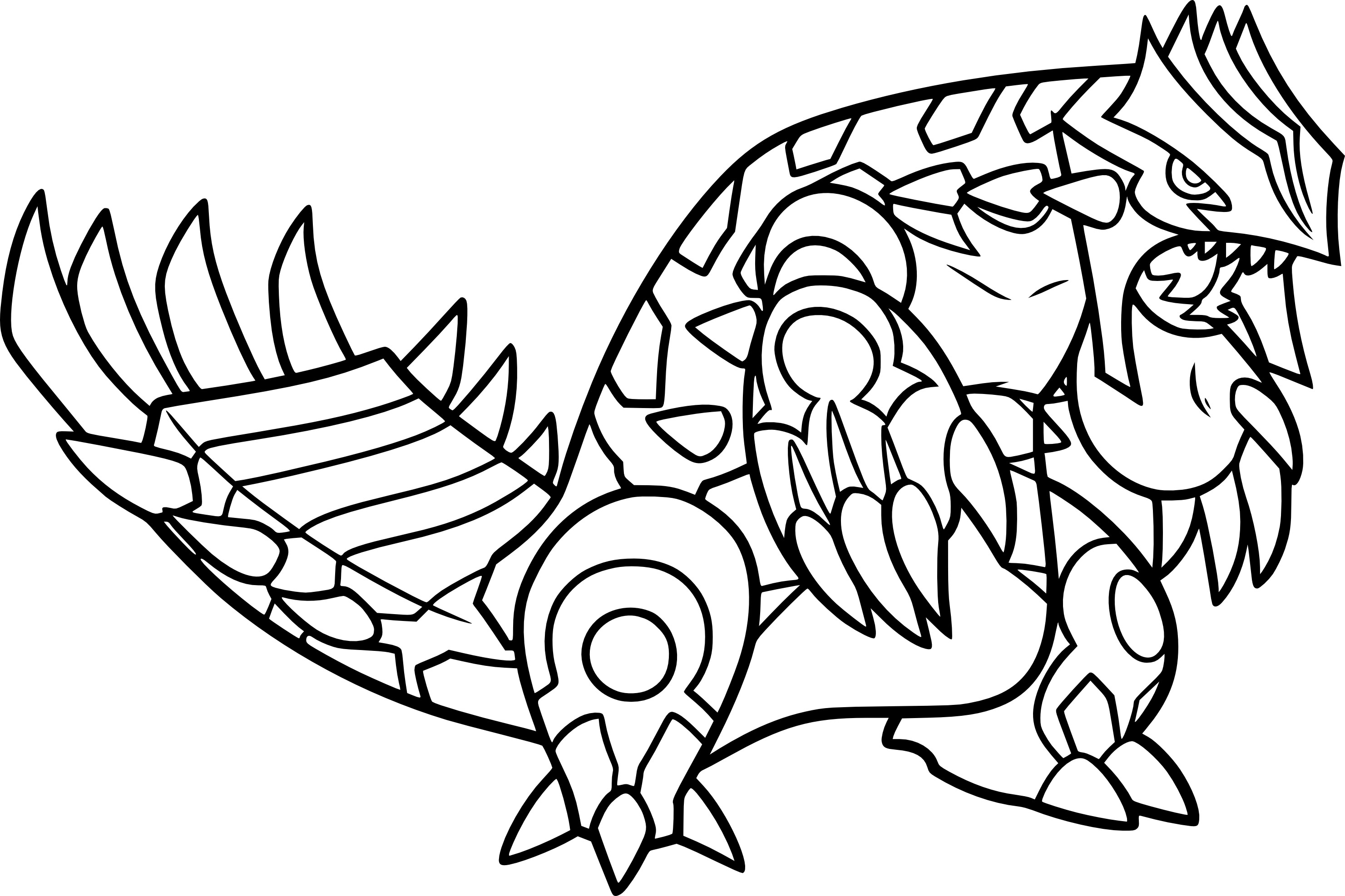 Coloriage Primo-Groudon
