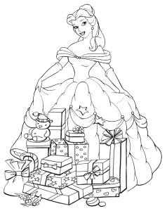Coloriage Princesse Noel